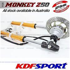 "KDF FRONT FORK DISC USD BRAKE 10"" WHEEL ALLOY CNC FOR HONDA MONKEY Z50 Z50R Z50J"
