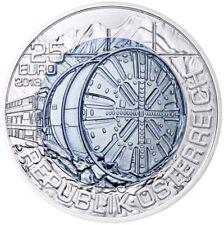 """25 Euro Coin 2013 Austria niobium """"Tunnels"""" Bank Fresh Hand lifted"""