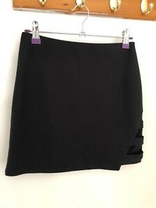 Forever 21 Black Mini Skirt With Detail New With Tags