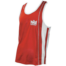 PUNCH Durable Competition Boxing Gym Singlet ( Sizes XS - S - M - L - XL )