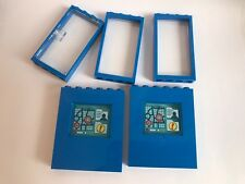 10 lego parts doors windows translucent glass blue parts - from 76082 10724 NEW
