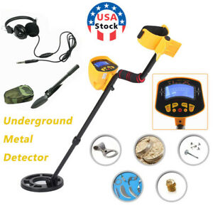 LCD Display Underground Metal Detector Gold Digger Hunter Deep Sensitive Coil