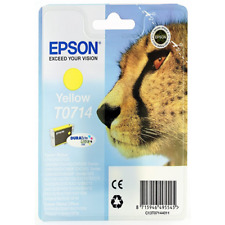 Ink Cartridge Yellow~415 Pages Original Epson T0714 for Stylus SX415