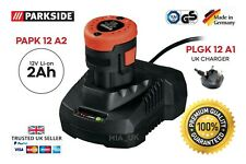 Parkside 12v 2ah Battery & Charger for Cordless Hammer Drill PBHA 12 A1 Germany