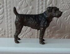 More details for well defined cast metal irish terrier dog model irish terrier ornament