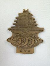 2000 Indianapolis 500 S284 Bronze Pit Badge Juan Pablo Montoya Ganassi Racing