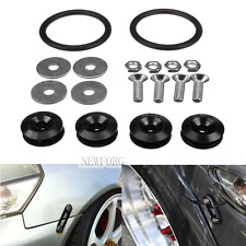 Black Quick Release Fasteners For Car Bumpers Trunk Fender Hatch Lids Kit