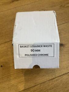 New High quality Italian Kitchen 1 Single Bowl sink waste kit Polished Chrome 90