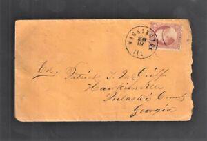 c1858 Washington Ill Cover to Col Patrick J McGriff Hawkinsville Georgia (AUG20)