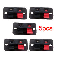 5x 2Positions Push in Jack Spring Load Audio Speaker Terminal Panel Connector