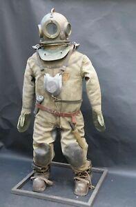 Vintage Rare Original Diving Helmet,suit,boots(cascue,escafandra) complete Suit