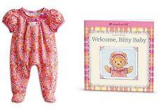 American Girl Bitty Baby Pink Paisley Sleeper BNIB  Sleeper & Book  Cute Cute !