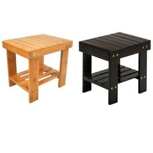 Durable Small Bench Bathroom Stepping Chair Foot Rest Stool Storage 2 Colors NEW