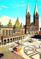 Bremen , Rathaus und Dom , Ansichtskarte ,  gelaufen