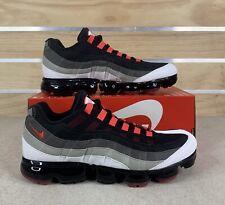 Nike Air Max Vapormax 95 OG Red Hot Black Grey Red AJ7292-101 Men's Size 13