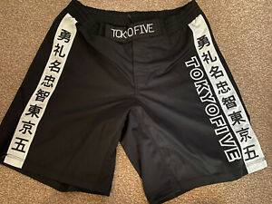 Tokyo Five MMA BJJ Kick Boxing Shorts 2XL 38 Waist Black