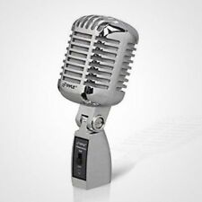 """Retro Vocal Microphone """"Die Cast Look"""" Vintage Style 15ft XL Music Old-Fashioned"""