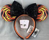 Disney Parks Sweet Spooky Halloween Minnie Mouse Ears Bow Headband Hat - NEW