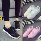 Korean Women's Casual Lace Up Low Top Sport Sneakers Driving Loafer Board Shoes