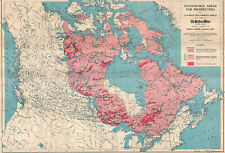 """1906 Map 11""""x16"""" Areas for Prospecting Canadian Precambrian Shield Geology Print"""