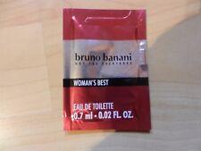 Bruno Banani Woman's Best Eau de Toilette 0,7ml Damen Luxus-Parfum-Probe *Neu