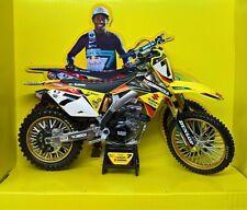 MODELLINO MOTOCROSS SUZUKI RMZ 450 JAMES STEWART SCALA 1:12 MODEL BIKE CROSS