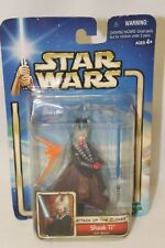 Star Wars Attack of the Clones Shaak Ti Jedi Master Figure 2001 New on Card