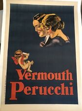 Original Vintage Poster Vermouth Perucchi ca.1926