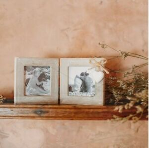 Sass and Belle Ashley Farmhouse Mini Double Square Photo Frame Pictures