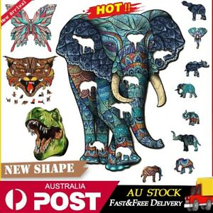 Wooden Jigsaw Puzzle Unique Animal Shape Jigsaw Pieces Best Adult Kids Toy Gift