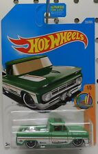 1962 62 255 16 CUSTOM PICKUP TRUCK GREEN SURFS UP CHEVY STREET ROD HW HOT WHEELS