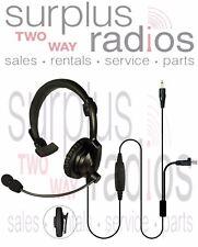 Lightweight Headset Mic Kenwood Mobile Base station TK8180 TK7180 NX700 NX800