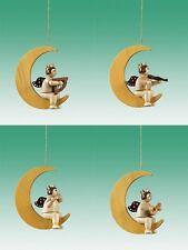 Décorations pour arbre de noël 4-teilig/Ange sur la lune Avec Couronne Nature