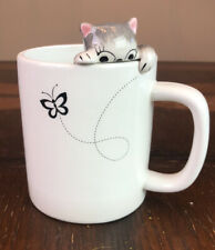 New listing Lily's Home Cute Clinging Grey Tabby Cat Mug for Coffee and Tea