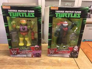 Ninja turtles WWE Ninja superstars Michaelangelo  Macho Man- Ralph Sting