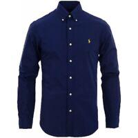 Polo Ralph Lauren Poplin Shirt Classic Fit in Navy Blue Size M