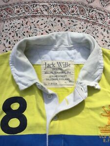 JACK WILLS - Yellow-Blue-Green Striped - Jersey - Long Sleeve - Rugby Shirt - XL
