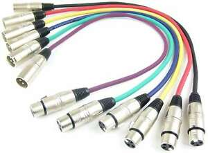 1 Set 0,5 m Adam Hall 3-Star Mikrofonkabel XLR XLR in 6 Farben DMX-Kabel 3 polig