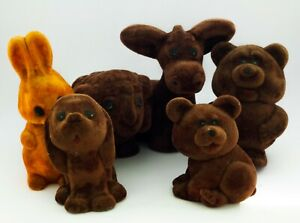 Vintage soft foam USSR Soviet animals toys: hare, dog, ram, donkey and bears