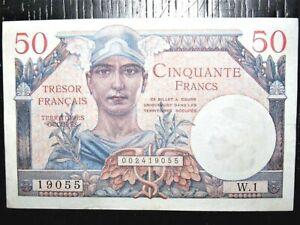 Billet 50 francs Trésor Français 1947 France W1 Territoires Occupés