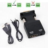VGA a HDMI Adattatore Converter Male VGA in Female HDMI 1080p Video Audio