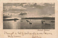 Rare Vintage Postcard - Portrush Harbour, Antrim Northern Ireland (Aug 1903).