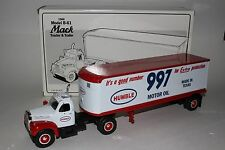 First Gear 1960 B-61 Mack Tractor and Trailer, Humble 997 Motor Oil 1/34 scale