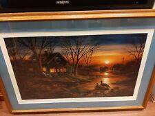 "Terry Redlin ""Shoreline Neighbors""  Signed NUMBERED Limited Edition Framed"