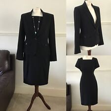 Jaeger Black 2 Piece Dress Jacket Smart Office Work