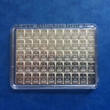 Silberbarren 50x1 Gramm Valcambi 999 Feinsilber Combibar 50 x 1 g 1g Silber 50g