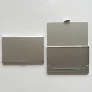 Waterproof Silver Pocket Name Credit ID Business Card Holder Box Metal Case