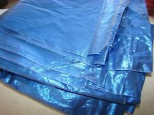 "RARE SHINY metallic FOIL Light Royal blue wet look fabric 40"" BY 5 YARDS"