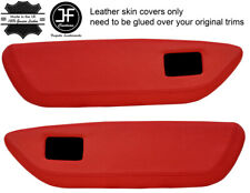 BLUE DIAMOND STICH 2X FRONT DOOR CARD TRIM LEATHER COVER FITS MG MGF MK1 95-99