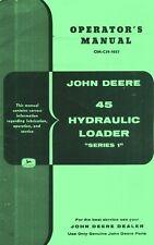 John Deere 45 Hydraulic Loader 50 60 70 A B G Trol Tractors Operators Manual